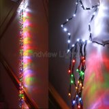 2.4m Clear Wire Multi Colour DEL Waterfall Lights