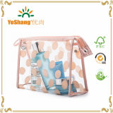 PVC impermeabile Polka Dots Cosmetic Toiletry Organizer di Clear per Women