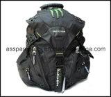 A motocicleta de competência preta da trouxa dos esportes empurra a trouxa (BA12)