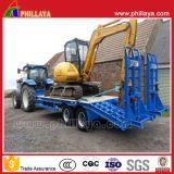 Tipo Diesel caminhão resistente da máquina escavadora da máquina do transporte de Lowbed do reboque pesado modular Semi