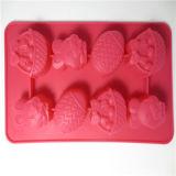 Прессформа кубика льда формы шаржа качества еды в материале силикона