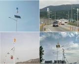 Indicatore luminoso di via ibrido solare di vento del vento verticale della turbina 100W 200W 300W 400W
