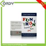 O cartão clássico lustroso do revestimento MIFARE 1k RFID com número 8H10D imprimiu