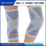 Funda de la rodilla de la compresión de la rodillera del deporte con el resorte del metal en ambos cara