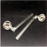 L'équipement en verre impétueux de TAPE à mazout de pipes en verre de brûleur a courbé becs 14cm de fumage de clou de pipe de tube de becs de plates-formes pétrolières de 16cm de mini