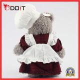 O costume personalizou o urso da peluche do cozinheiro chefe do urso da peluche com uniforme do cozinheiro chefe