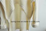 De ruige Zuivere Kleur breit Sweater voor Dames