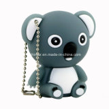 Lecteur flash USB de koala de dessin animé de PVC USB Pendrive Thumbdrive d'animal