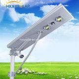 Lumière extérieure solaire intégrée Tout en un Lampe de rue solaire LED avec capteur PIR et contrôleur MPPT