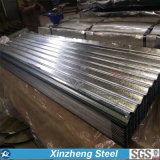 feuille en acier de toiture de 0.13mm-6.0mm Galvanzied, feuille ondulée galvanisée de toiture