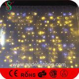 Luces conectables de la cortina de la Navidad del alambre de goma LED, luces Wedding de la decoración