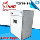 Яичка 1232 цыпленка сертификата Ce Hhd польностью автоматические насиживая машину