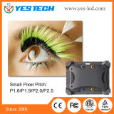 Pequeña visualización de LED del canal de televisión del pixel de Yestech P1.6 (surtidor de China)