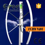 Sistema vertical da linha central da turbina 2kw do telhado com Ce