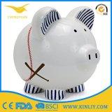 De goedkope Ceramische Gift van de Doos van de Besparing van het Geld van het Porselein van het Huwelijk van de Bank van het Muntstuk