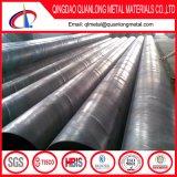 Tubo d'acciaio saldato a spirale di GB Q195 Q235 Q345 SSAW