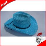 Chapéu feito malha da forma do chapéu de vaqueiro da palha palha de papel