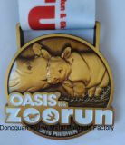 Médaille de récompense, oasis 10k, passage de zoo, module de finition, bronze antique, 3D