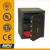 Double Bitted Key Lock (LSC415-K /415 x 435 x 390 mm)를 가진 Wall 단 하나 Laser Cut Door Home & Office Safes.