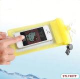 Sac imperméable à l'eau de coût bas avec 3 tirettes scellées pour Samsung S3 S4 (STL190YF)