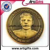 Metallabnehmer-Entwurfs-Münze überzogenes antikes Kupfer