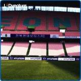 Im Freien farbenreiche Fahne des Umkreis-Stadion-LED