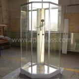 vidro Tempered de quarto de chuveiro de 10mm & de cerco do chuveiro com entalhes da dobradiça