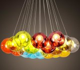 Lâmpada de vidro colorida moderna do candelabro (WHG-916)