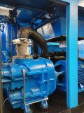 Pétrole lubrifiant le compresseur d'air rotatoire de vis de compactage à deux étages