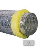 Duto flexível de alumínio isolado acústico