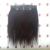 Clip de las extensiones del pelo en el pelo humano 100% de la Virgen del pelo de la cinta