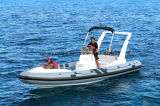 Aqualand 22feet 6.45m Fiberglass Rib BoatかRigid Inflatable Fishing Boat/(RIB650c)