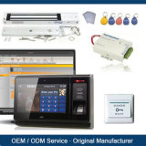 Het Systeem van het Toegangsbeheer voor Flat met de Scanner van de Lezer NFC RFID en van de Vingerafdruk