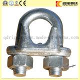 Clip de cuerda galvanizado M8 de alambre de acero del ala del doble de la placa