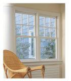 Calidad Doble abertura de ventana de aluminio para Vilia, basculantes de aleación de aluminio con revestimiento sólido Ventana de desplazamiento vertical de madera de pino