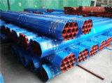 Tubo de acero pintado rojo En10255