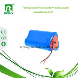 Bloco 11.1V 18650 2600mAh da bateria para a luz Emergency