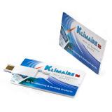 Lecteur flash USB de forme de carte de visite professionnelle de visite avec des les deux impression de logo