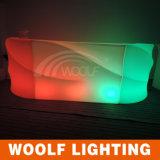 Woolf 중국 구획 공정한 LED 테이블 LED는 LED 의자 LED Lit 바 카운터 가구를 착석시킨다
