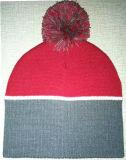 3D bordado, casquillos de las lanas de la raya que hacen punto (S-1062)
