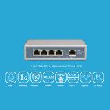 Interruptor reverso portuario de 8 10/100/1000Mbps Poe con la salida 12/5A del soporte de Vlan del socket de la C.C.