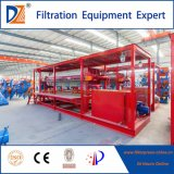 Prensa de filtro automática controlada del PLC para el tratamiento de aguas residuales del laminado
