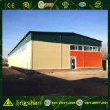 Atelier léger moderne approuvé de structure métallique de GV Lingshan (L-S-002)