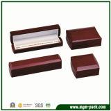 Rectángulo de joyería de madera modificado para requisitos particulares alta calidad