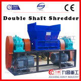 Máquina plástica de la desfibradora de la desfibradora doble del eje con de calidad superior