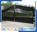 Puerta galvanizada negro del hierro labrado del tubo/puerta de Countyard