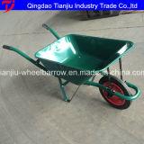 압축 공기를 넣은 고무 바퀴를 가진 건축 외바퀴 손수레 Wb5009