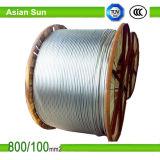 Conductor de aluminio ACSR reforzado acero (perro) del cable aéreo de ACSR