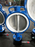 Engrenage All Lining PTFE Anti-Corrosion Wafer Butterfly Valve