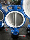 Шестерня привелась в действие полностью клапан-бабочку вафли подкладки PTFE Anti-Corrosion
